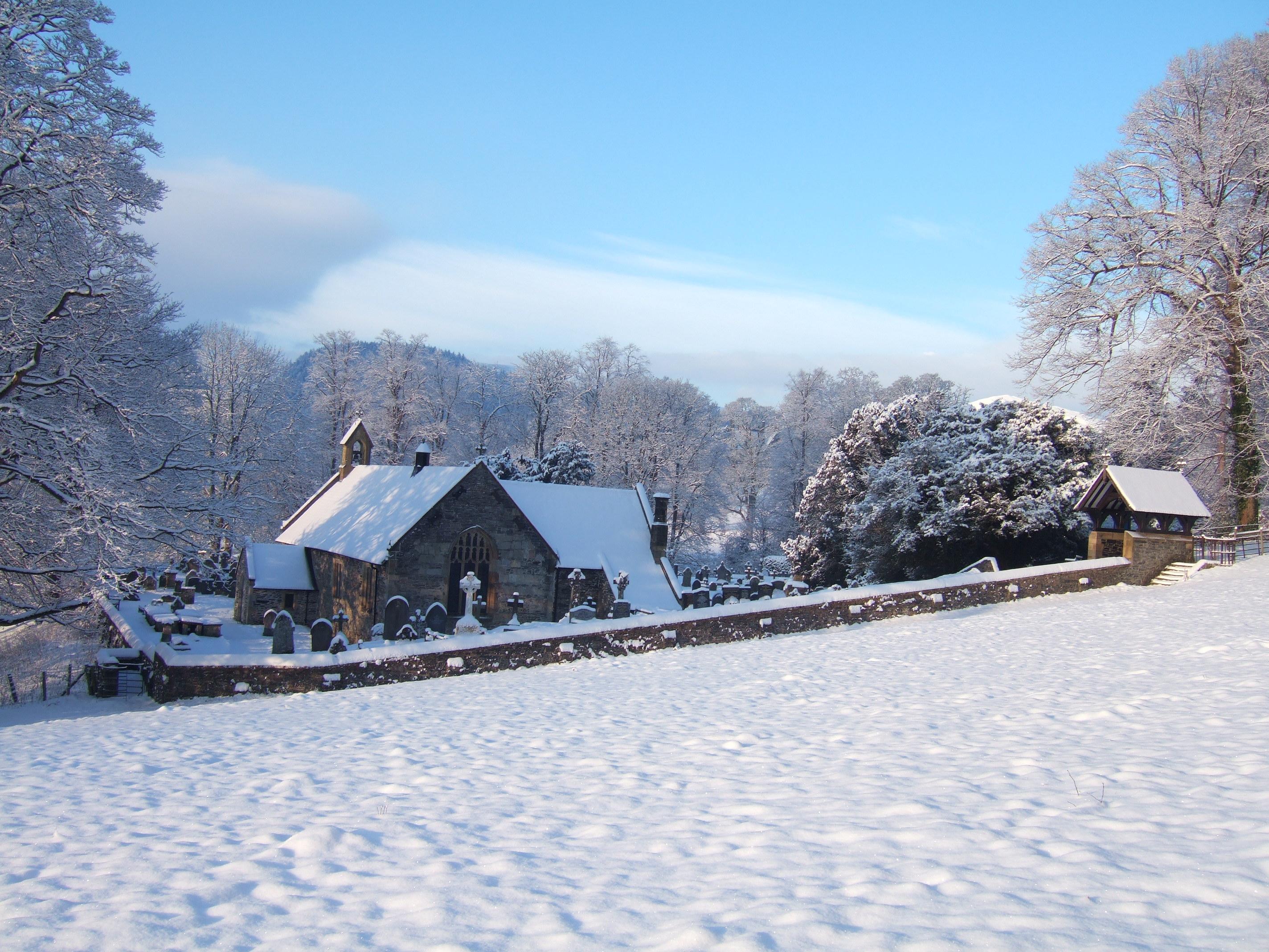*Llantysilio church in winter