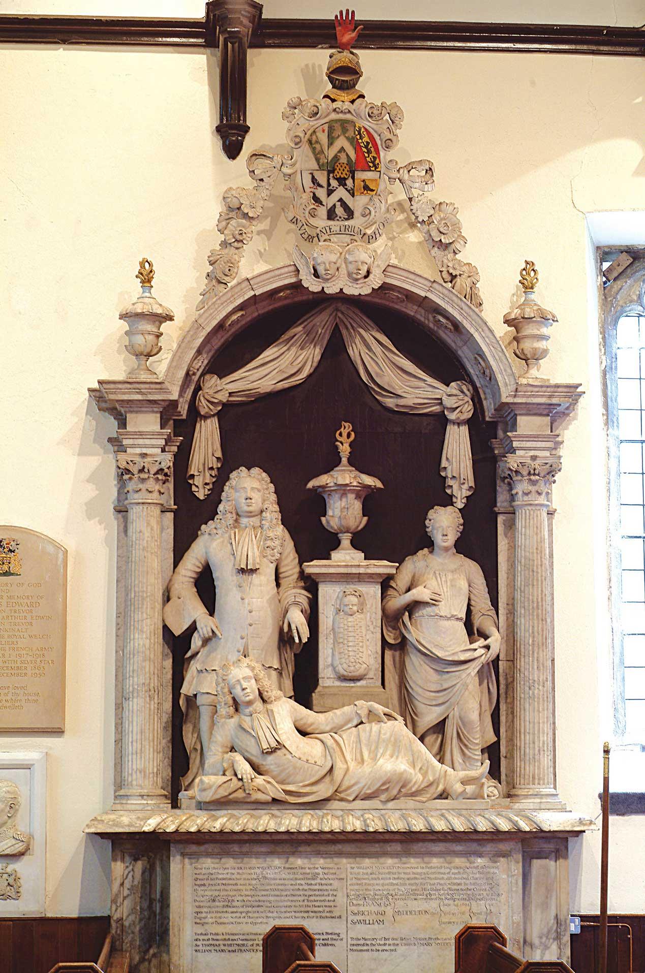 Myddleton family monument, chirk