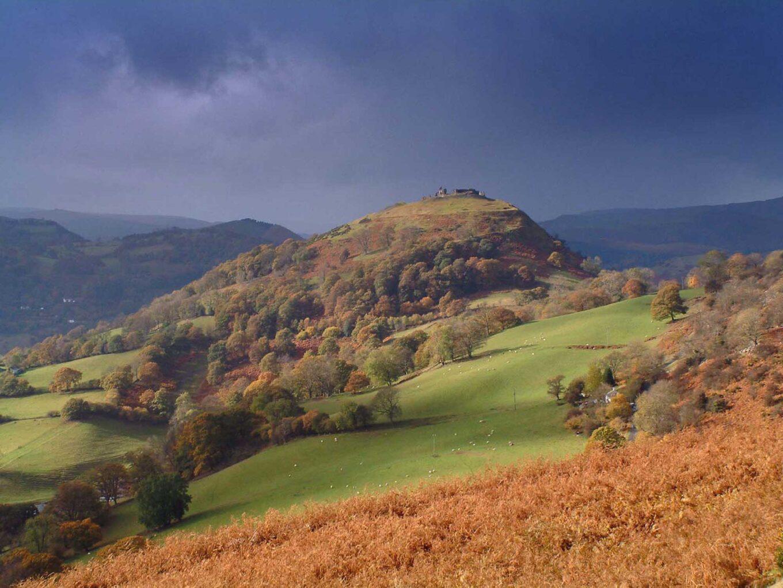 *Panorama of Dinas Brân
