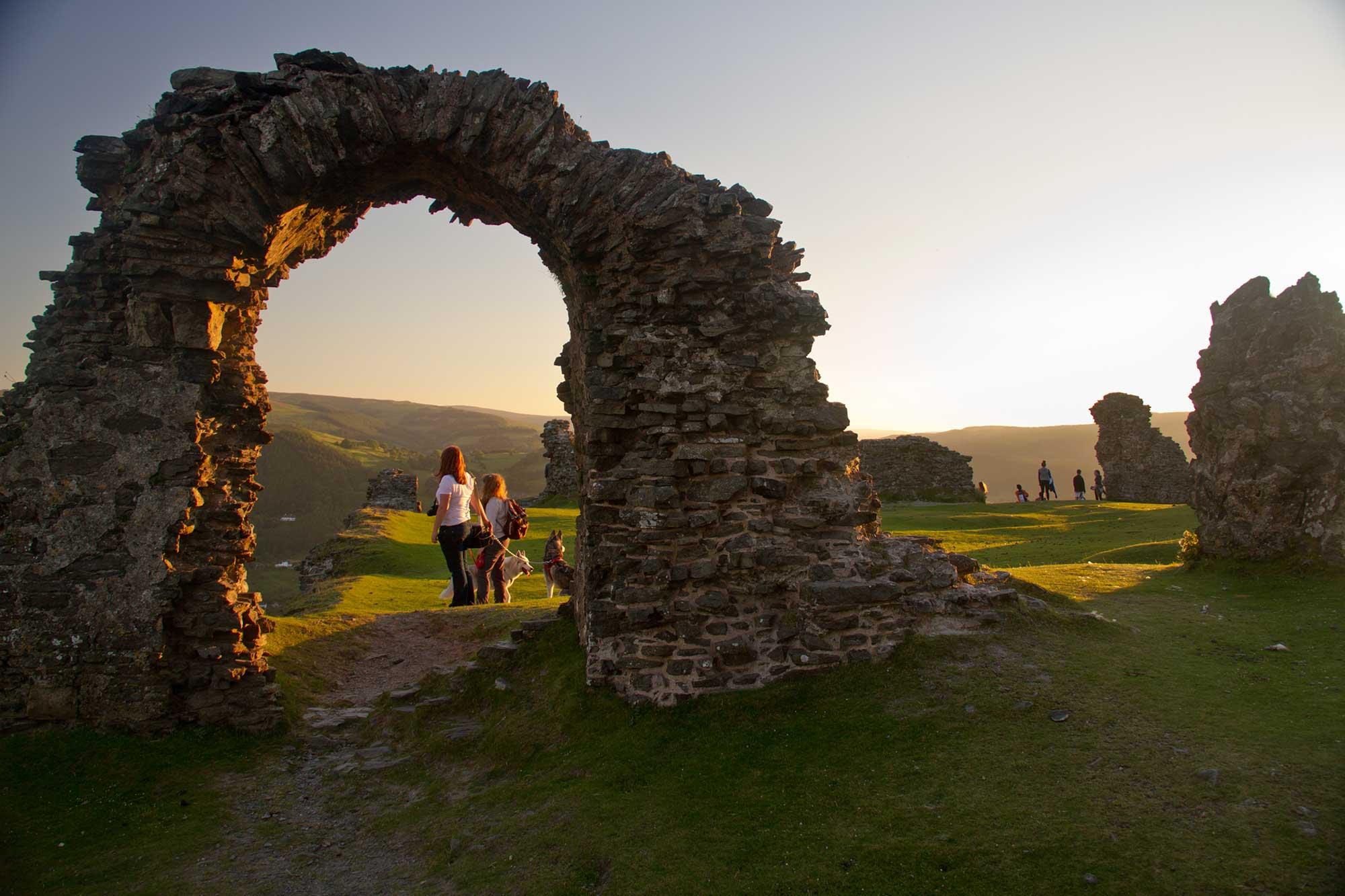 *Arch of Dinas Brân Castle