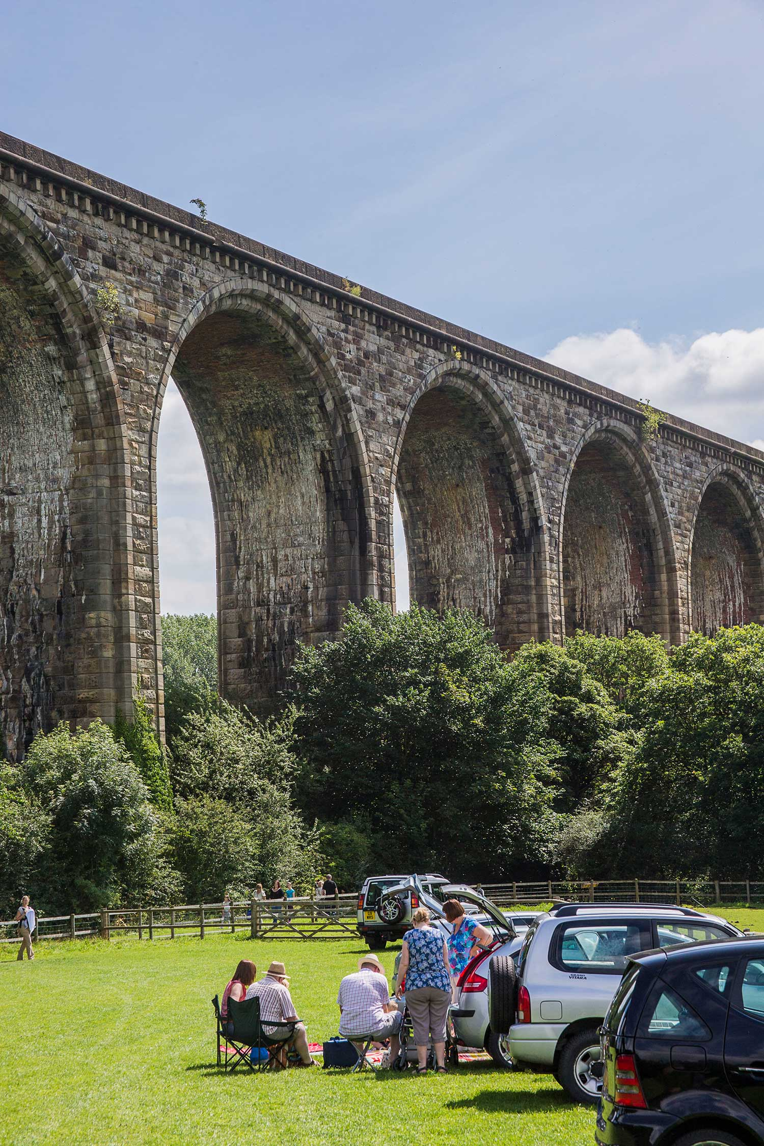View of Cefn Viaduct form Ty Mawr Country park