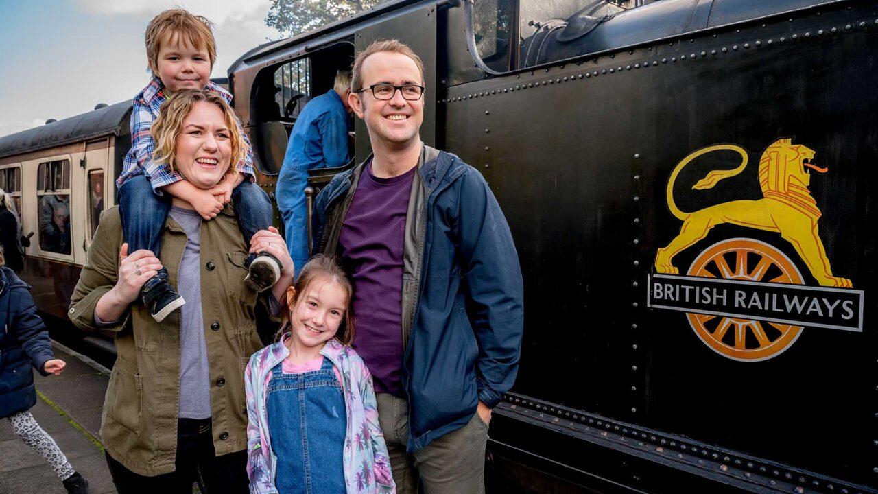 *steam train at llangollen railway