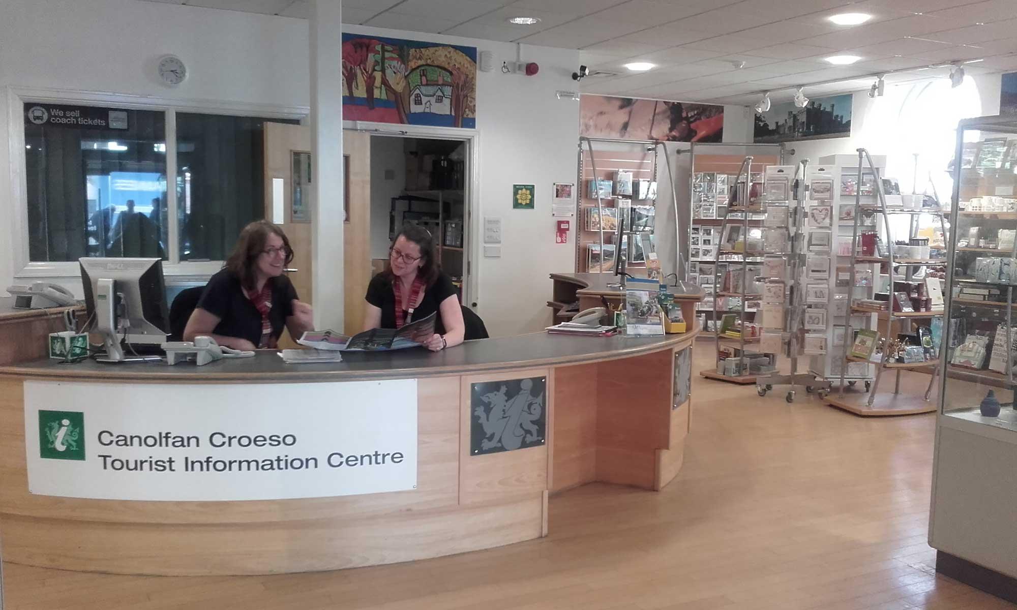 *Llangollen tourist information centre shop