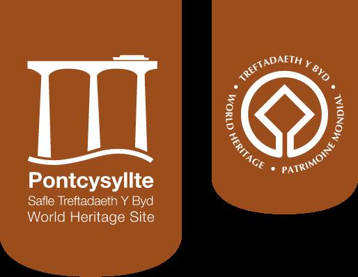 Pontcysyllte Safle Treftadaeth Y Byd World Heritage Site logo
