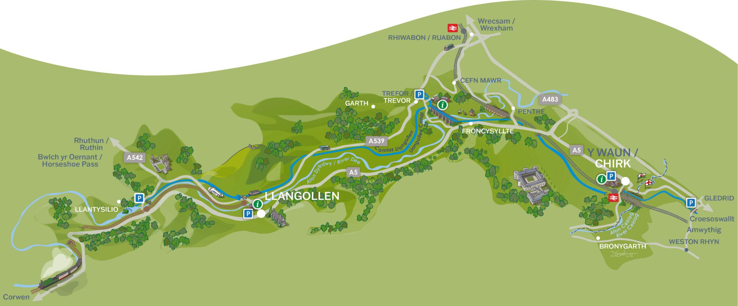 Pontcysyllte World Heritage Site map