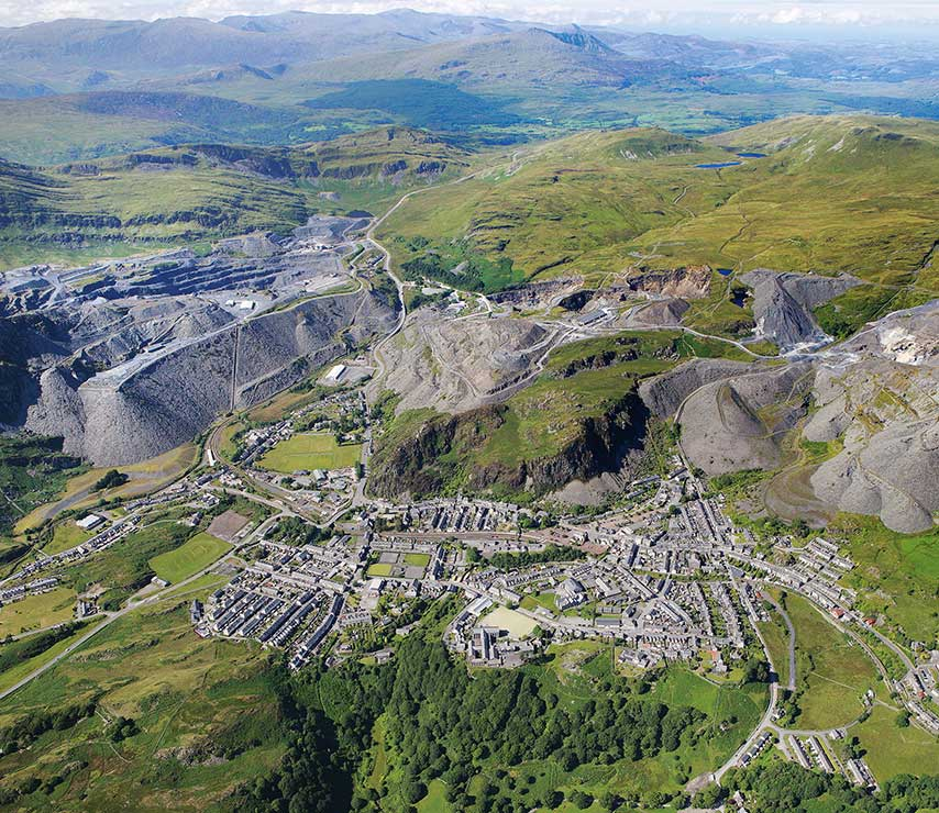 The slate landscape of North West Wales