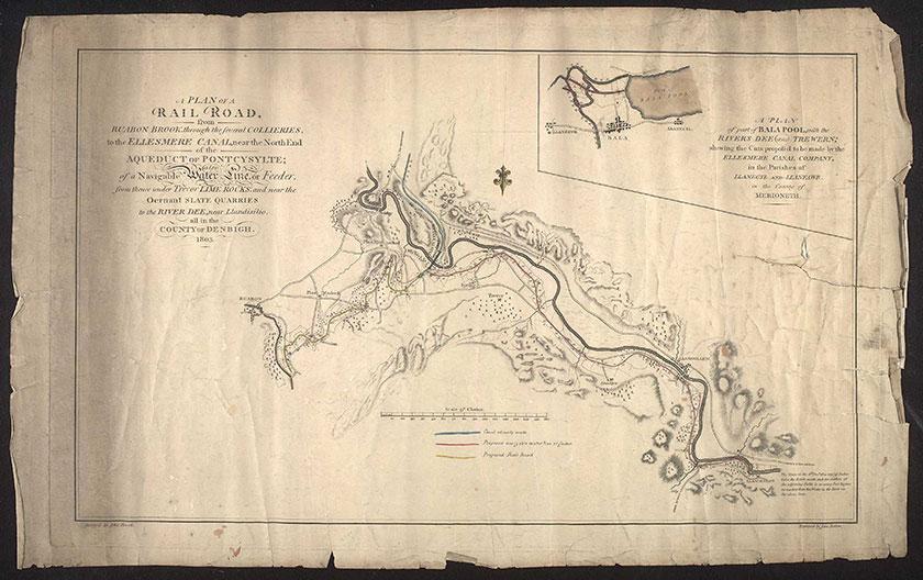 Llangollen branch map