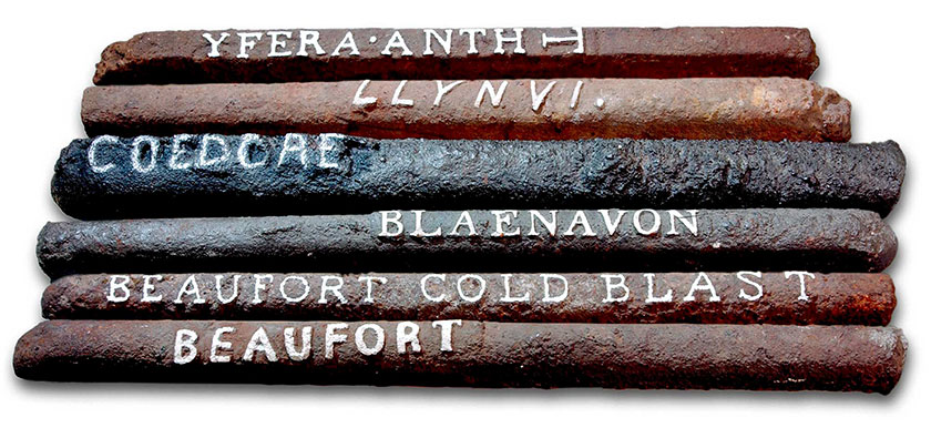 Barau o haearn crai o Gymru Bars of pig iron from Wales
