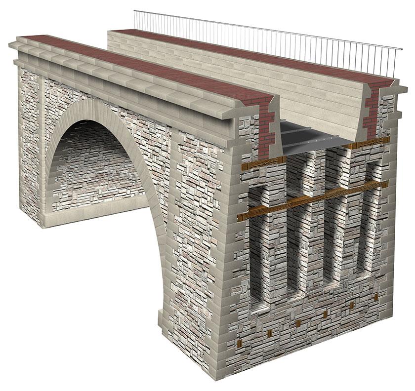 Hollow Chirk Aqueduct model