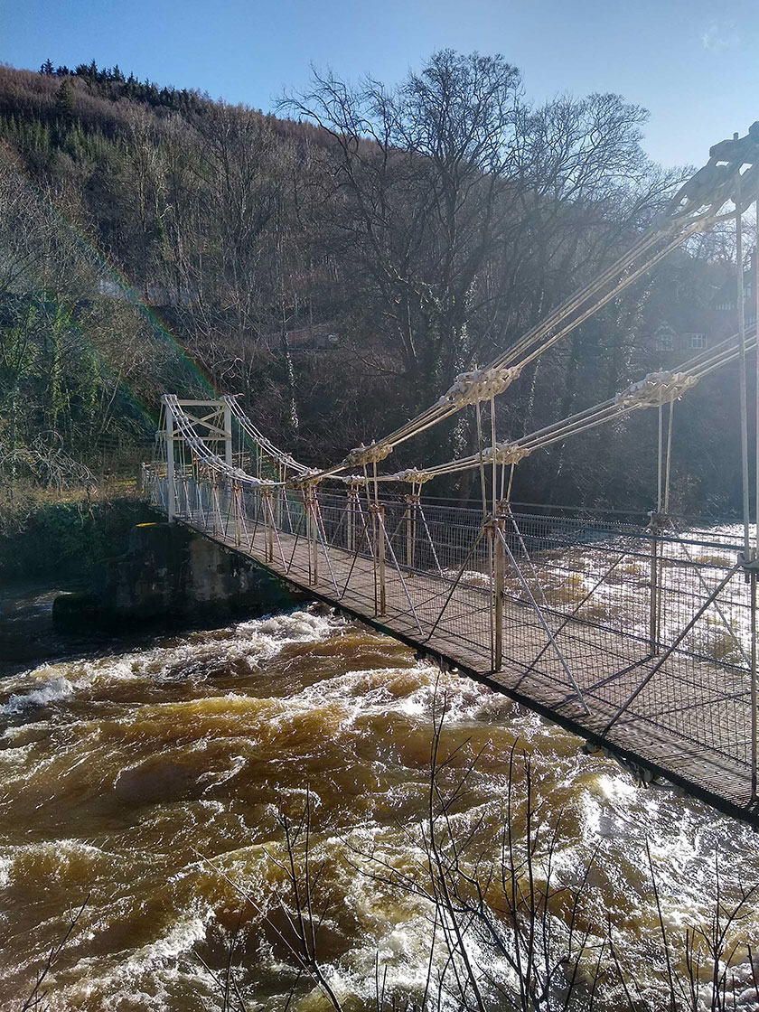 The restored bridge today