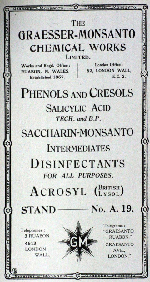 Advert for Graesser Chemical works