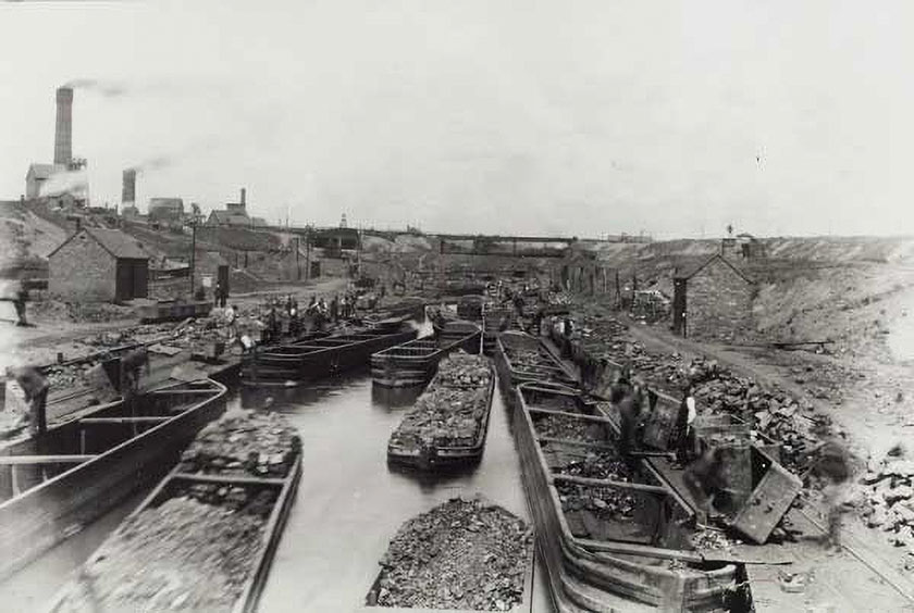 Barges at Hednesford colliery