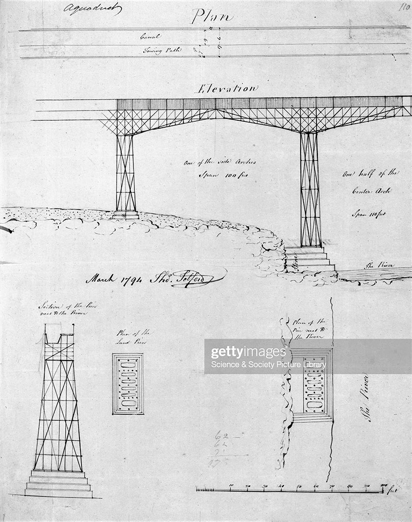 Early Pontcysyllte drawing