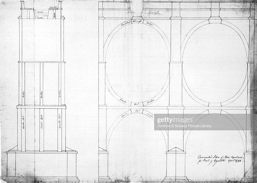 Duncombe aqueduct drawing