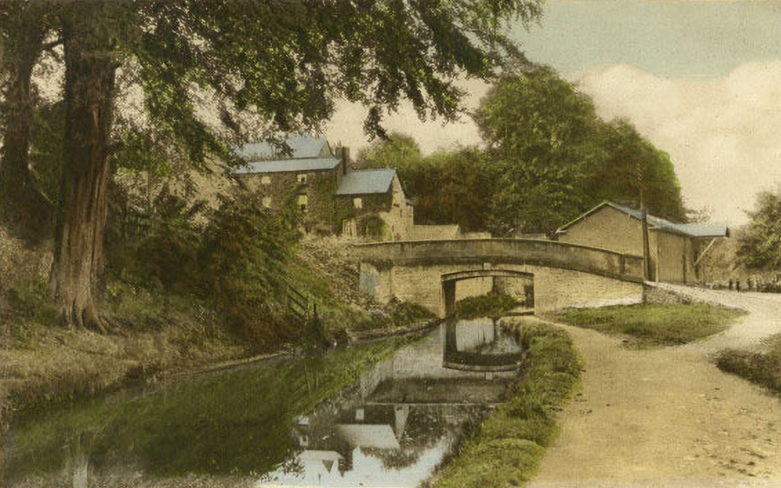 Chirk Bank and Canal then and now