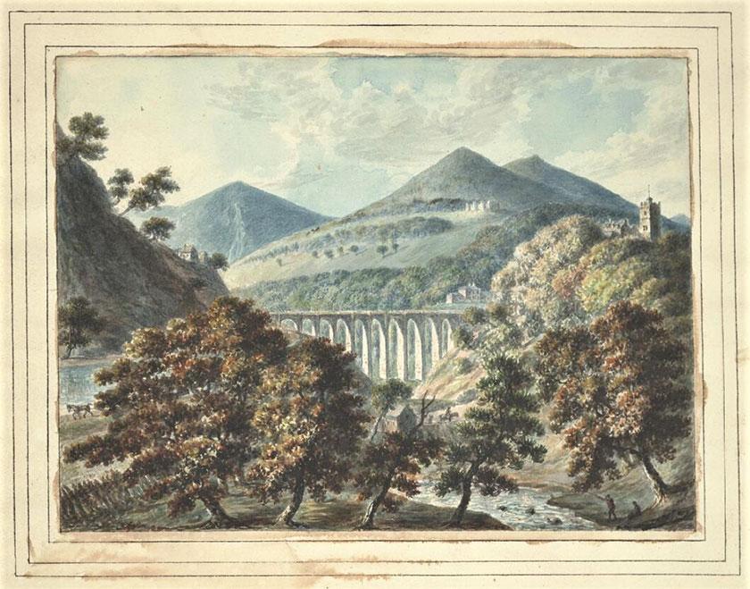 Golygfa orllewinol Ingleby o ddyfrbont y Waun Ingleby's westward view of Chirk Aqueduct