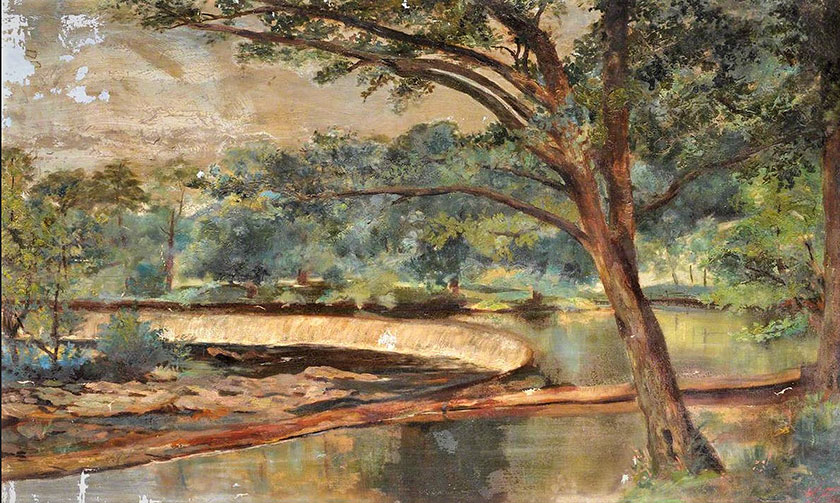 Rhaeadr y Bedol Horseshoe Falls - W.K.Fuge