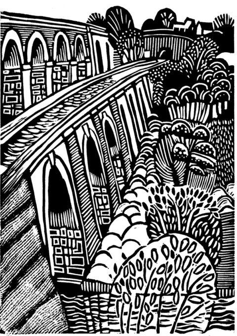 Dyfrbont y Waun i'r Twnnel Chirk aqueduct to the tunnel