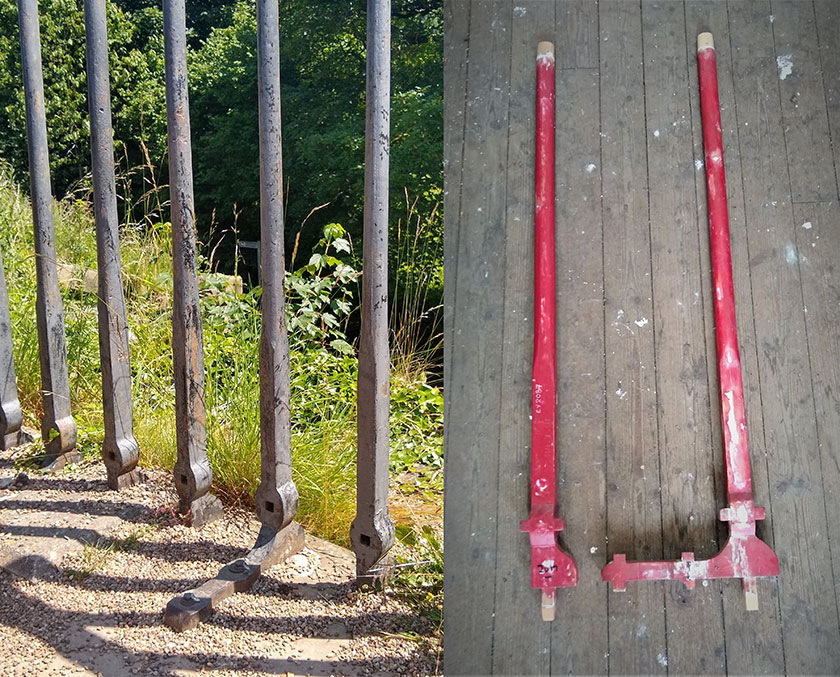 Rheiliau Pontcysyllte Pontcysyllte railing