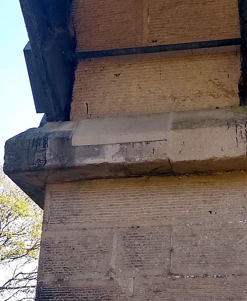 New stone block in Pontcysyllte Aqueduct