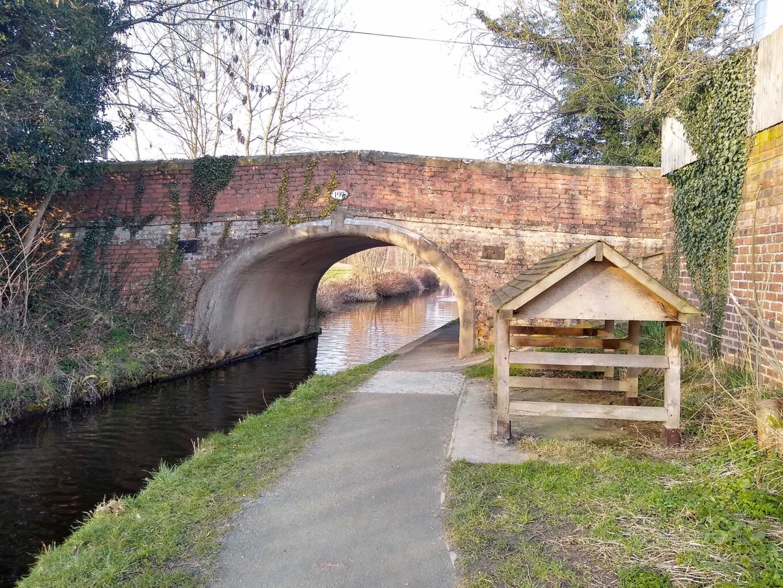 Geldrid Bridge stop plank shelter
