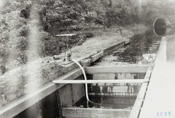 Planks in use on Chirk Aqueduct