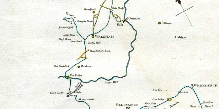 1795 survey map for Llangollen Canal