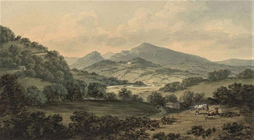 Dyffryn Llangollen cyn y ddyfrbont Vale of Llangollen before the aqueduct