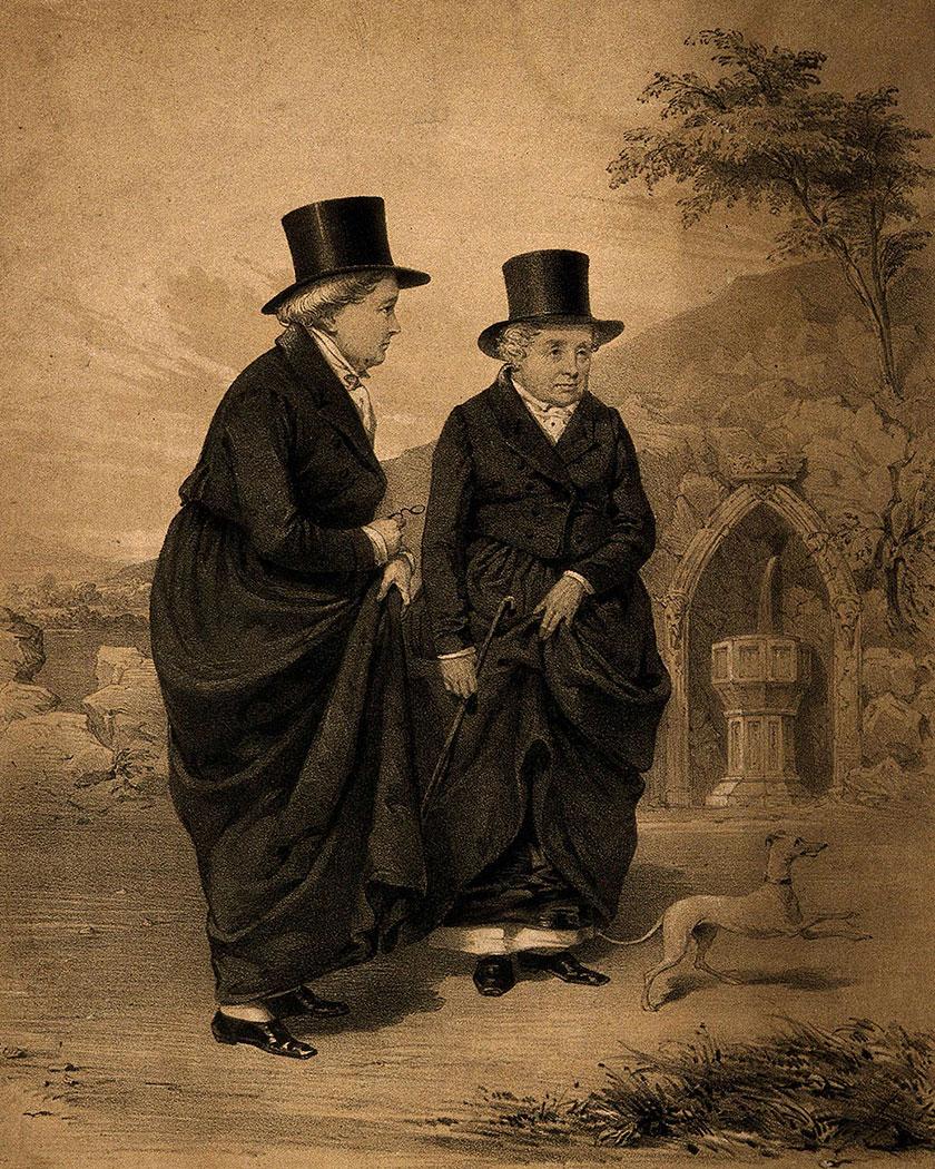 Llun Merched Llangollen Ladies of Llangollen print
