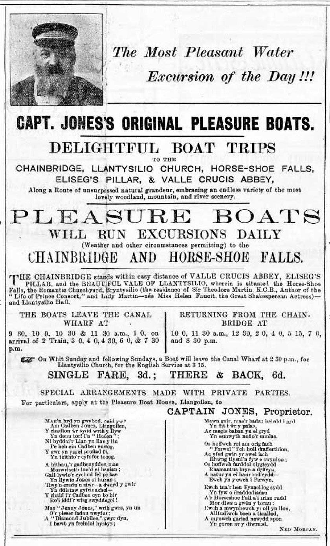 Hysbyseb Capten Jones Captain Jones advertisement