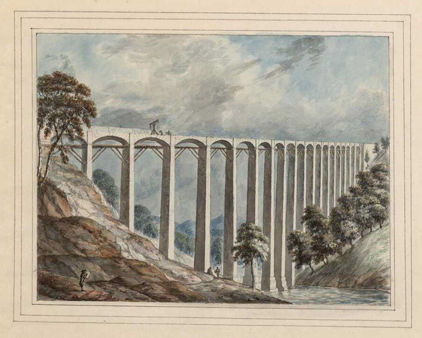Dyfrbont anorffenedig Unfinished aqueduct
