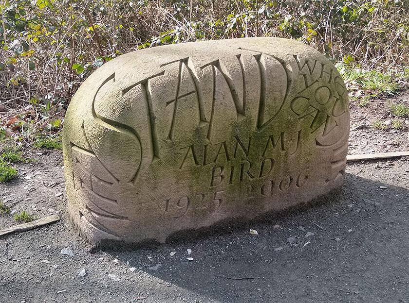 Carreg Alan bird stone